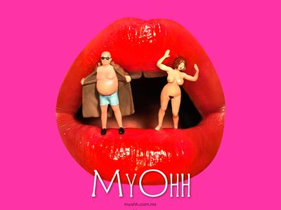MyOhh Ad shop sex erotic content advertising design graphicdesign illustration art digital