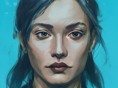 #Portrait of Aya design portraiture portrait illustration art digital