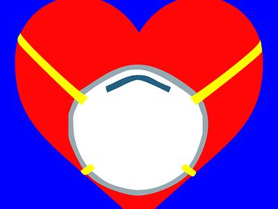Covid Heart 1 illustration design graphicdesign digital art heart covid