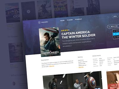 MovieTV clean ui design website web design user interface movie movies stream player template theme