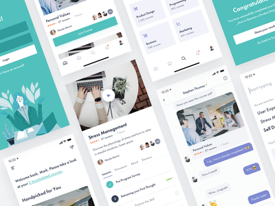 Courses App course app login lessons ui ux mobile ios video courses sign up interface
