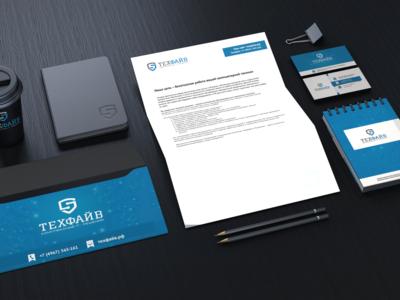 Разработка фирменного стиля для Техфайв logo branding