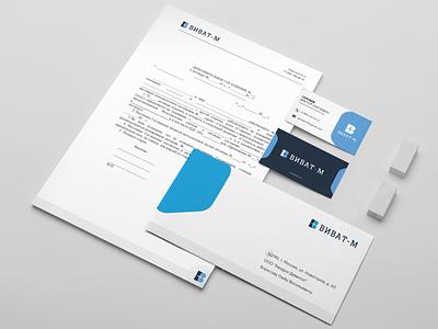 Разработка фирменного стиля компании «Виват-М» logo branding
