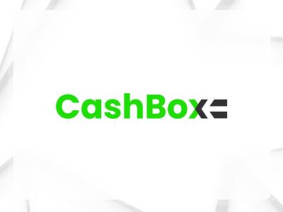 Cashbox logo - payment gateway gateway payment flat branding finance arrow negative space typography vector design logo