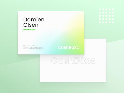 Cashbox business cards payment business card businesscard print aurora typography branding logo