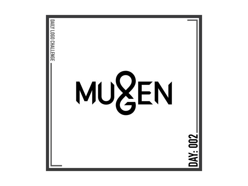 Daily Logo Challenge Day 002 - Mugen design typography logo