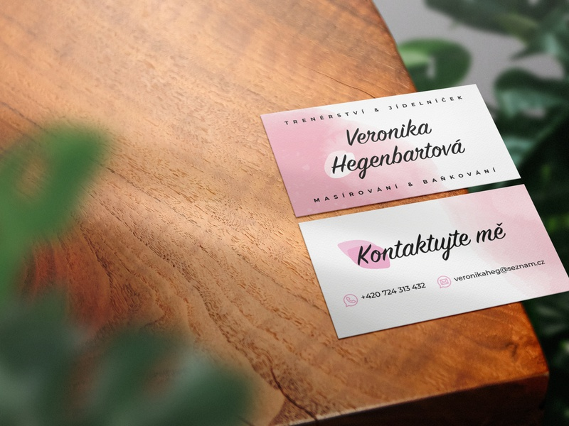 Business card for massage therapist | Kreativio business card design woman business card trainer therapist therapy fitness corporate design card design business card businesscard branding vector brand identity brand illustration artwork graphic design adobe illustrator design