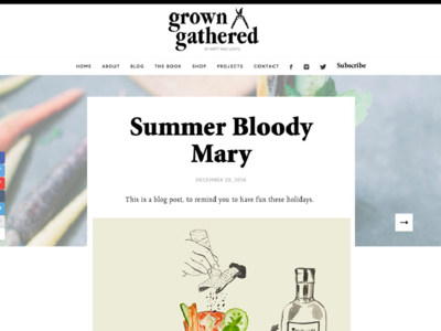 Grown & Gathered Newsletter