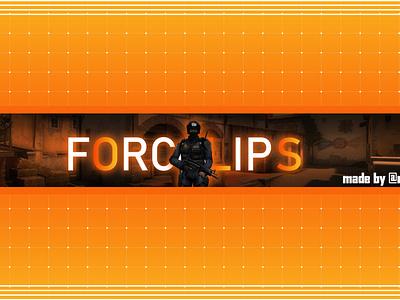 Banner FORCLIPS web minimal flat art illustrator vector ux ui typography logo illustration icon design branding app