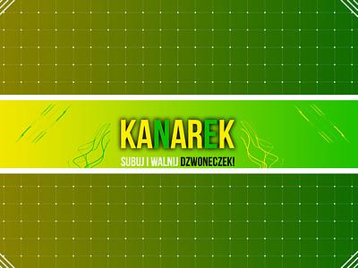 Banner KANAREK web minimal flat identity character graphic design art ui ux illustrator vector typography logo illustration icon design branding app