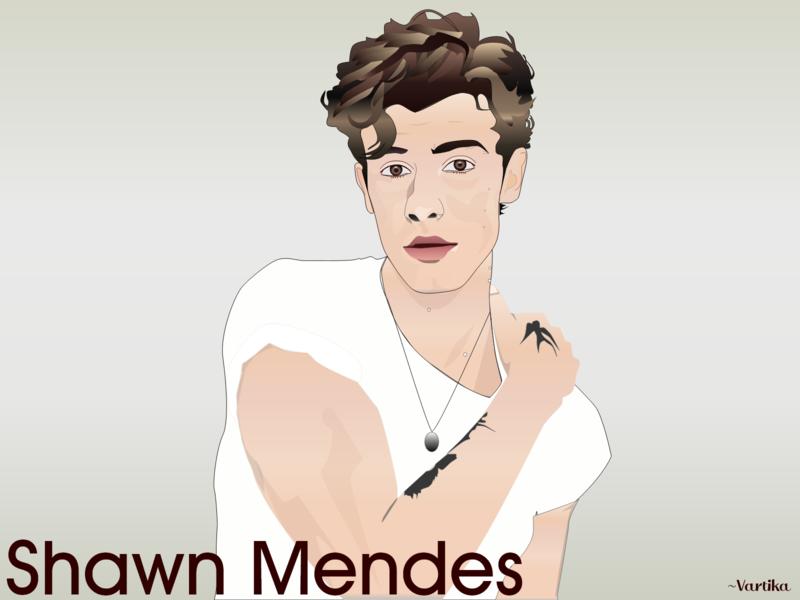 Shawn Mendes-Illustration celebrity adobe illustration art art shawn mendes illustration design