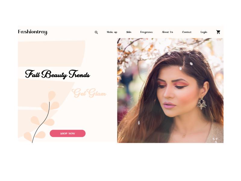 Landing Page- Beauty\Make up UI design typography uiux uidesign web design beauty makeup website design website ux ui design