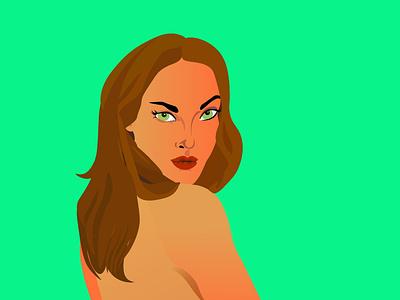 eve beautiful girl sketch illustrator lady design illustration