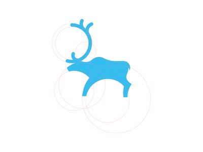 Logo Mark Exploration  logo design mar blue guides animal icon