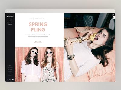 Design Exploration pink type images design digital fashion web e commerce