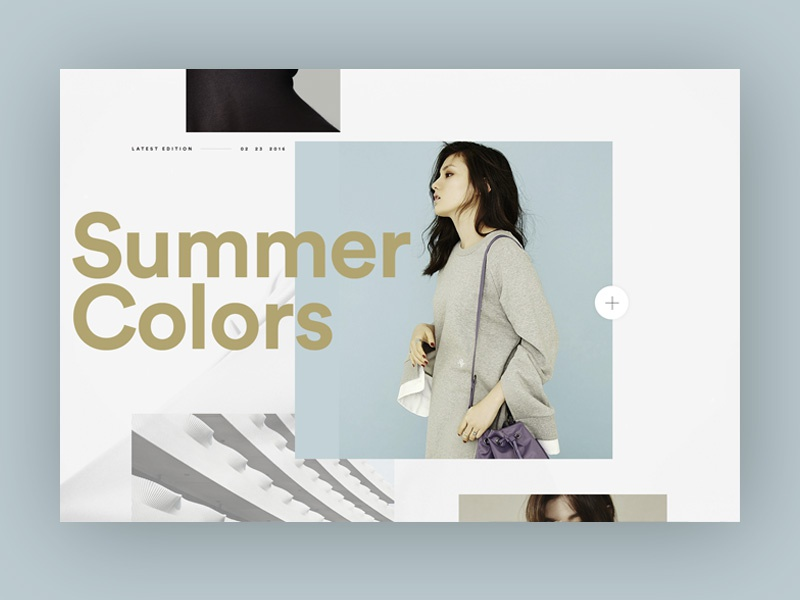 New Project Explorations type blue e commerce web design layout