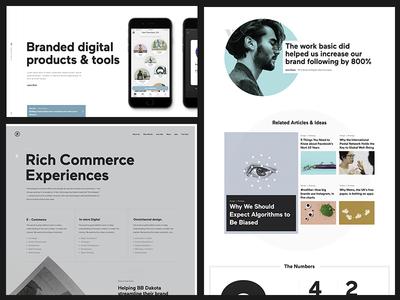 Basic Redesign Explorations portfolio type clean simple web agency