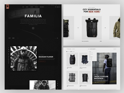 Chrome E com site products red black typography product tiles design website images type brand e commerce