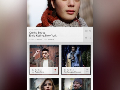 Social Lookbook (quick wip) 3 app iphone type white blur simple cool interactive design images clean menu fashion ui ux navigation