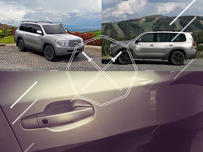 Branding One of Our Cars cars wrap vinil branding themes dojo land cruiser toyota