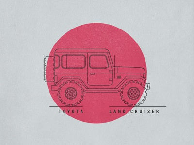 Toyota Land Cruiser FJ40 - Made in Japan illustration fun 4x4 fj40 land cruiser toyota