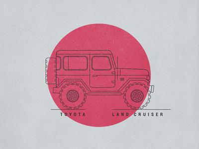 Toyota Land Cruiser FJ40 - Made in Japan illustration fun 4x4 fj40 land cruiser toyota
