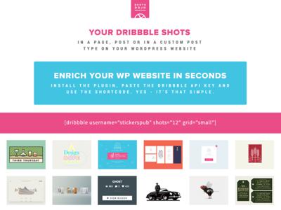 Dribbble WordPress Plugin - WPShotsDojo portfolio showcase responsive plugin wordpress shots dribbble