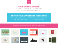 Dribbble WordPress Plugin - WPShotsDojo