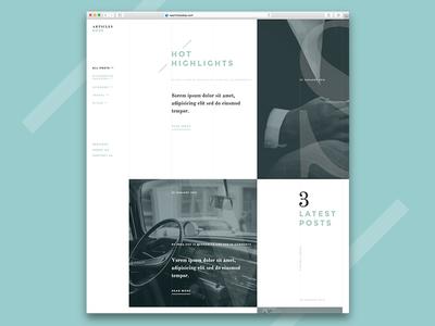 Articles Dojo - WordPress Theme - Work in Progress