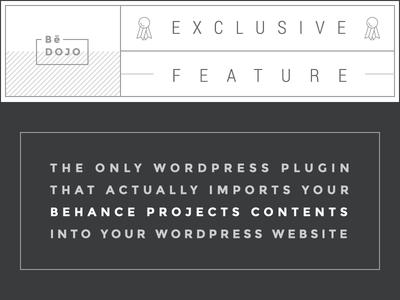 BeDojo WordPress Plugin - Import your Behance Projects