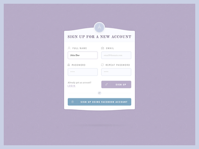 PSD Freebie - Classy Register Form template psd sign up freebie free form register