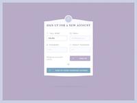 PSD Freebie - Classy Register Form