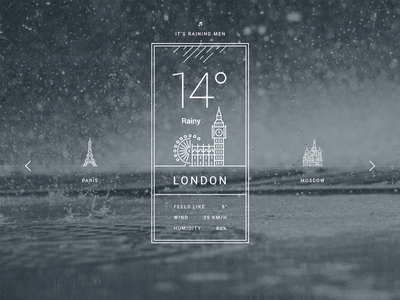 Weather - PSD Freebie freebie free psd londin rainy weather