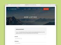 Add Listing UI - ClassyAds WordPress Theme