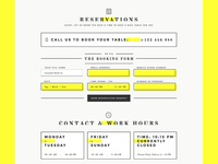 Reservations Section - BarDojo HTML/CSS Template