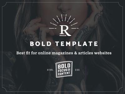 Regular - Bold Content Website Template