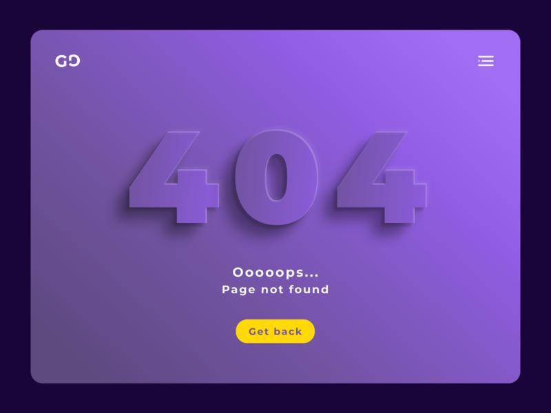 404 Page - Daily UI 008 web diseñoweb designweb screen design ui design dailyui ui diseño