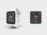 Music player - Daily UI 009 design smartwatch music app music uiux diseño ui design ui dailyui