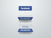 Facebook button concept