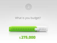 Concept for budget/price slider