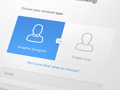 Toggle deiner web stacks ui interface ux form toggle blue button icon designer user outline sign up