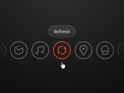 Icon-based navigation erik deiner dark icons menu ui black food circle selected music location orange navigation tooltip refresh places apps