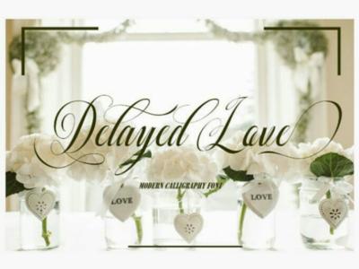 Font Delayed Love font script.bundle