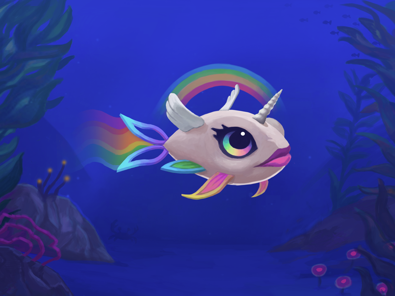 Rainbow fish by lo van royen dribbble for Rainbow fish pictures