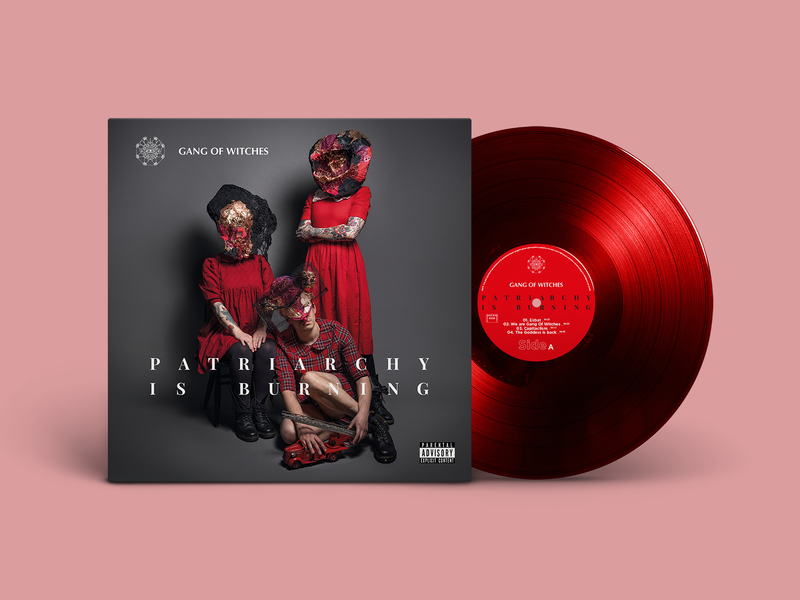 Gang Of Witches   Vinyl Cover photography art direction visual art band red cover music vinyl logo branding