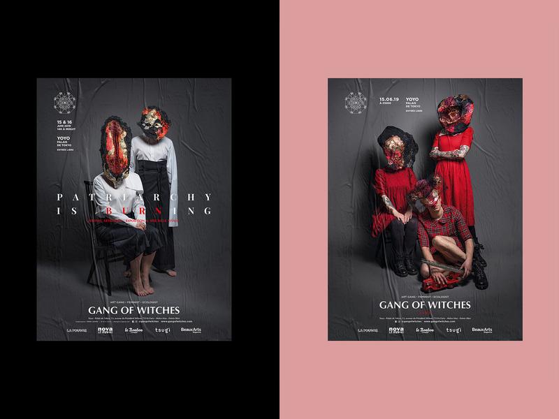 Gang Of Witches   Festival Posters logo red burn music art direction poster design art festival poster branding