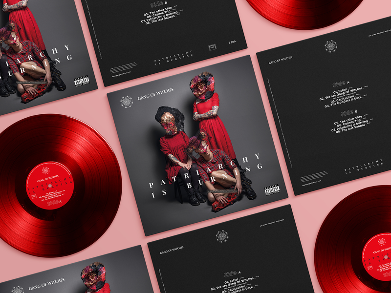 Gang Of Witches   Vinyl Cover branding vintage logo vinyl cover red music band visual art art direction photography