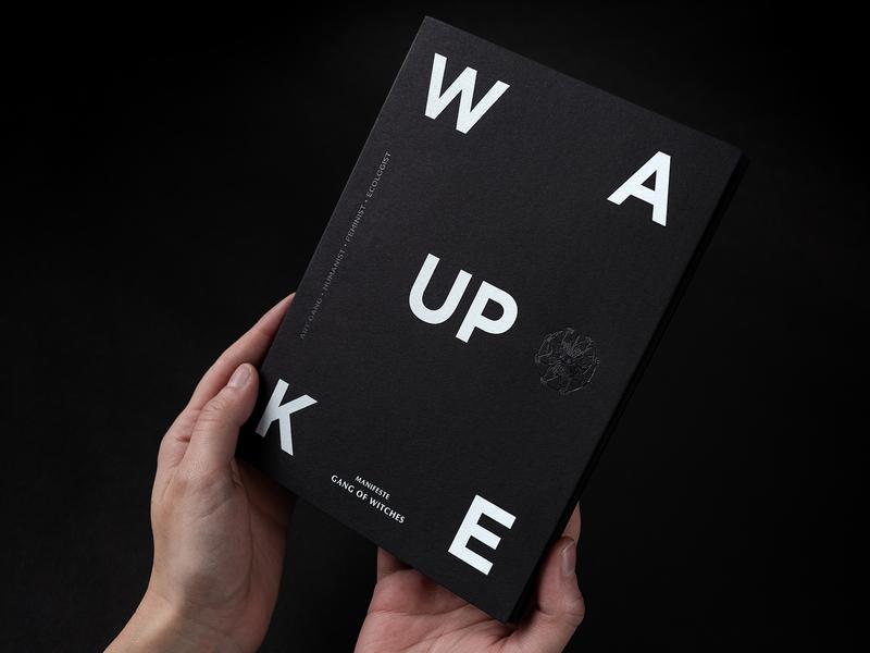 Gang Of Witches   Manifesto branding luxury keaykolour screenprinted black paper logo wake up art direction manifesto print