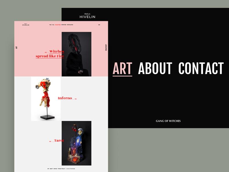 Artist Website   ART Page vector typography photoshop branding digital interface website ui design ux ui