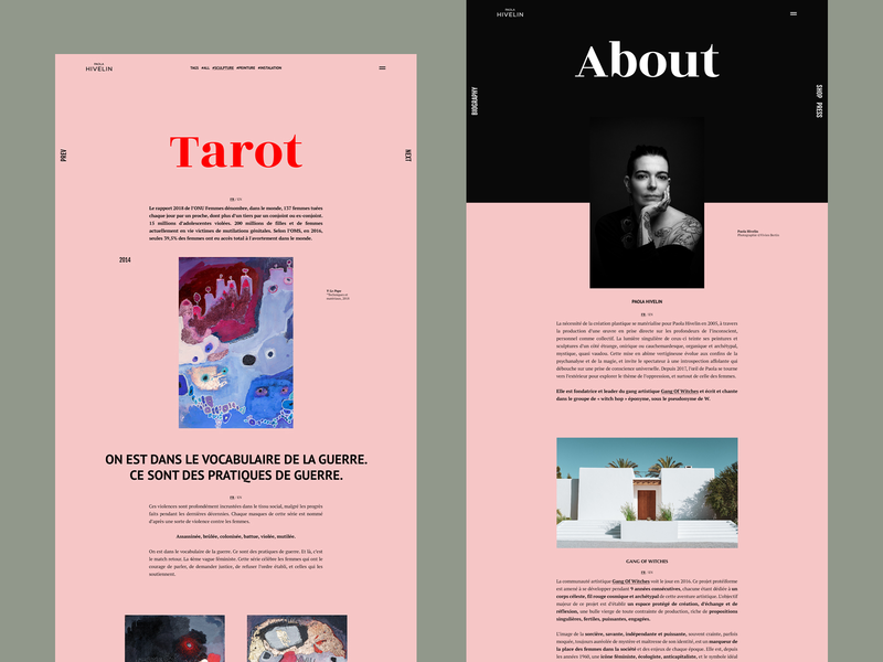 Artist Website   ABOUT Page vector typography color photoshop serie art digital page website branding uidesign ux ui